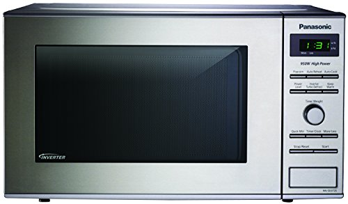 1 Panasonic Nn Sd372s Stainless 950w 0 8 Cu Ft Countertop Microwave With Inverter Technology