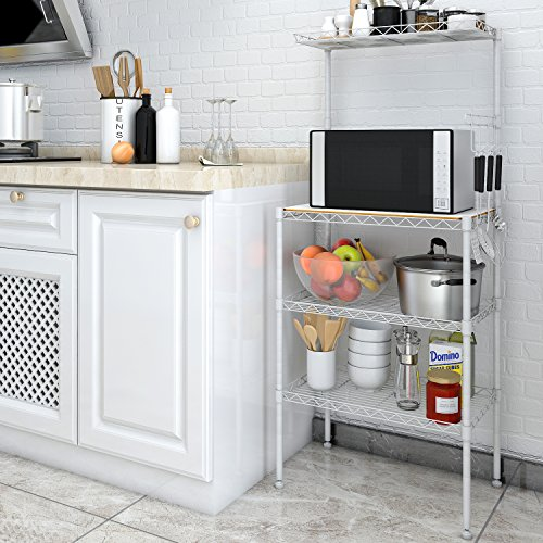 Ordinaire Lifewit 4 Tier Bakers Rack, Microwave Oven Stand With Hanging Hooks For  Kitchen Storage U2013 Cheap And Cheerful But A Little Unstable And Not Good For  Larger ...