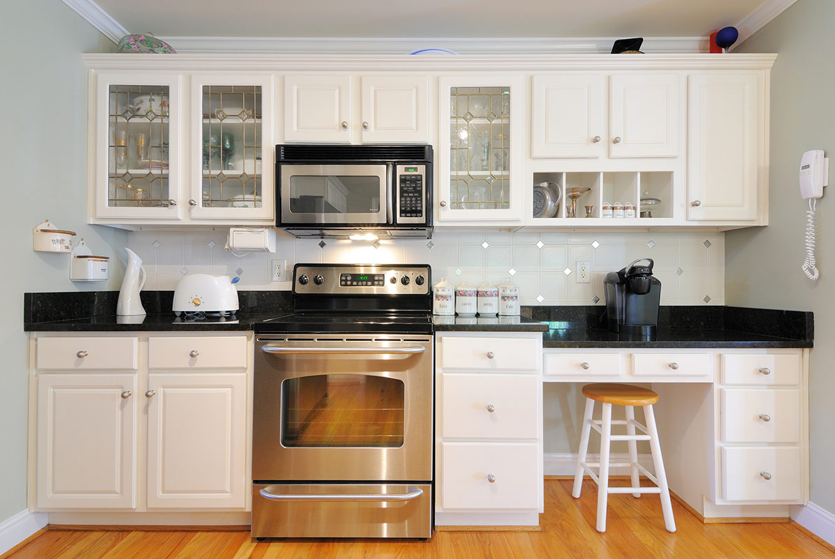 ... Ideas Microwave Placement A Small Kitchen With Microwave ...